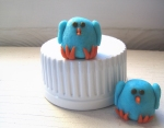 Marzipan bluebirds